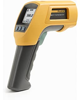 Fluke 566 Dual Infrared Thermometer, -40 to +1202 Degree F Range, Contact