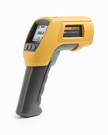 Fluke 566 Dual Infrared Thermometer, -40 to 1202 Degree F Range, Contact Non Contact
