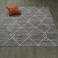 Ottomanson Studio Collection Diamond Trellis Design Area Rug, 50 X 60, Grey