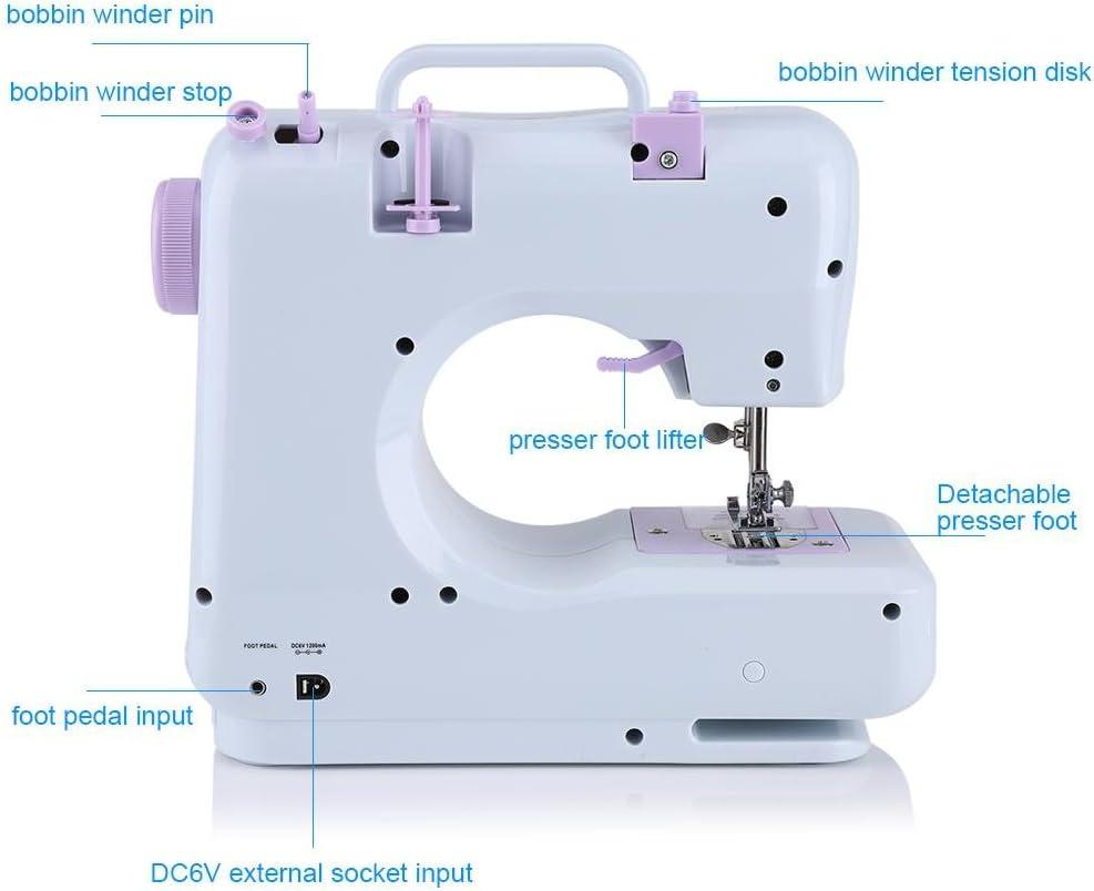 Máquina de coser electrónica de 12 puntos para principiantes Mini ...