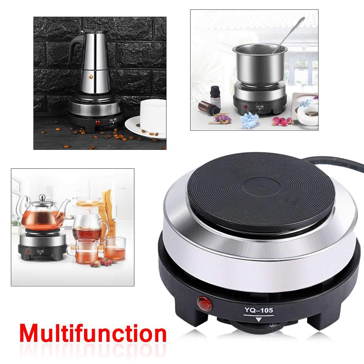 500W Plug Multifunctional Electric Heating Plate Furnace Cooking Coffee Heater Stove Power Saving Portable by Ronald S. Shepard