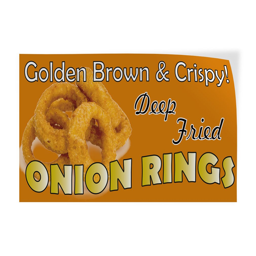 Onion Rings 13 oz Banner Heavy-Duty Vinyl Single-Sided with Metal Grommets Non-Fabric