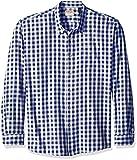 Wrangler Men's Big and Tall Authentics Long Sleeve Premium Gingham Shirt, Blue Depths, 3XL
