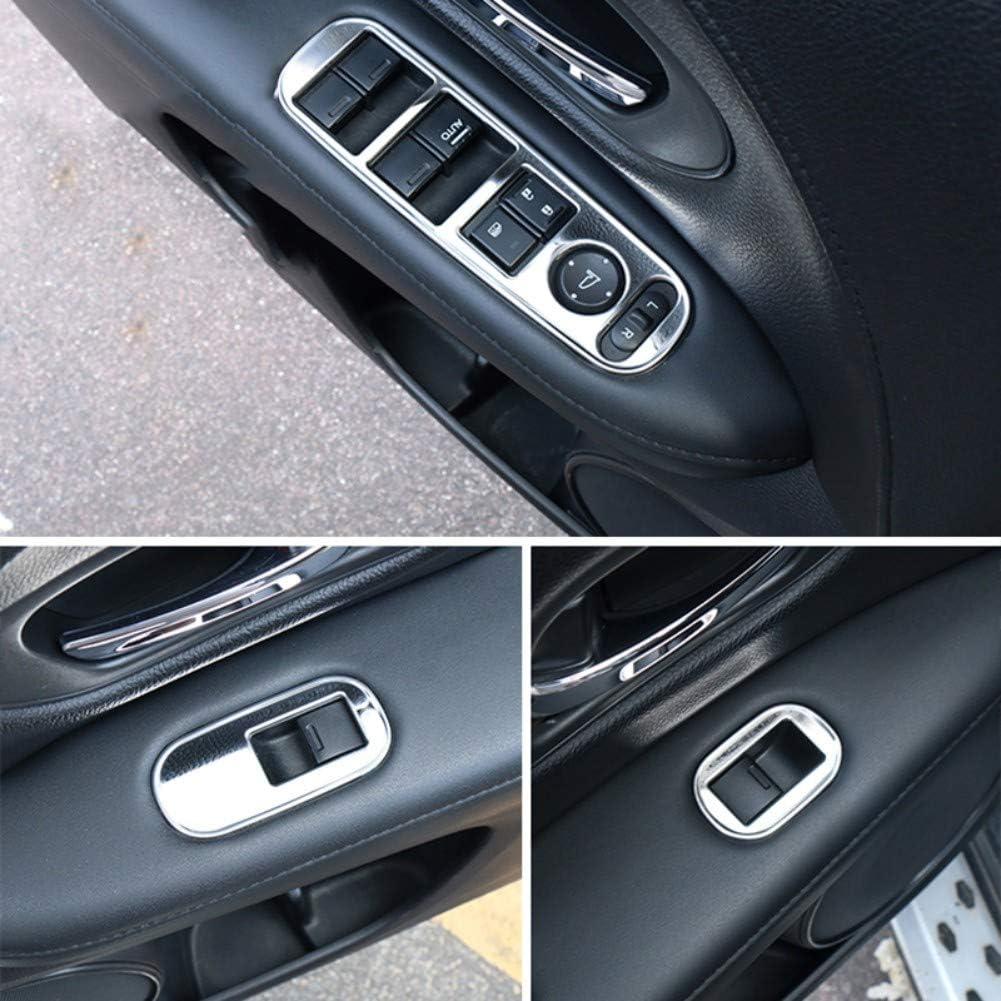 YINSHURE Auto Fensterheber Panel Aufkleber EdelstahlCar Zubeh/ör Interieur F/ür Honda HRV HR-V Vezel LHD 2014 2015 2016 2017