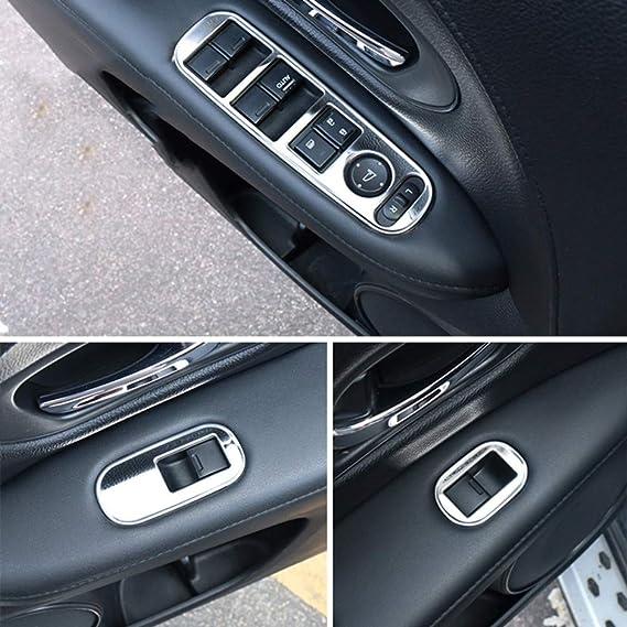 Yinshure Auto Fensterheber Panel Aufkleber Edelstahlcar Zubehör Interieur Für Honda Hrv Hr V Vezel Lhd 2014 2015 2016 2017 Sport Freizeit