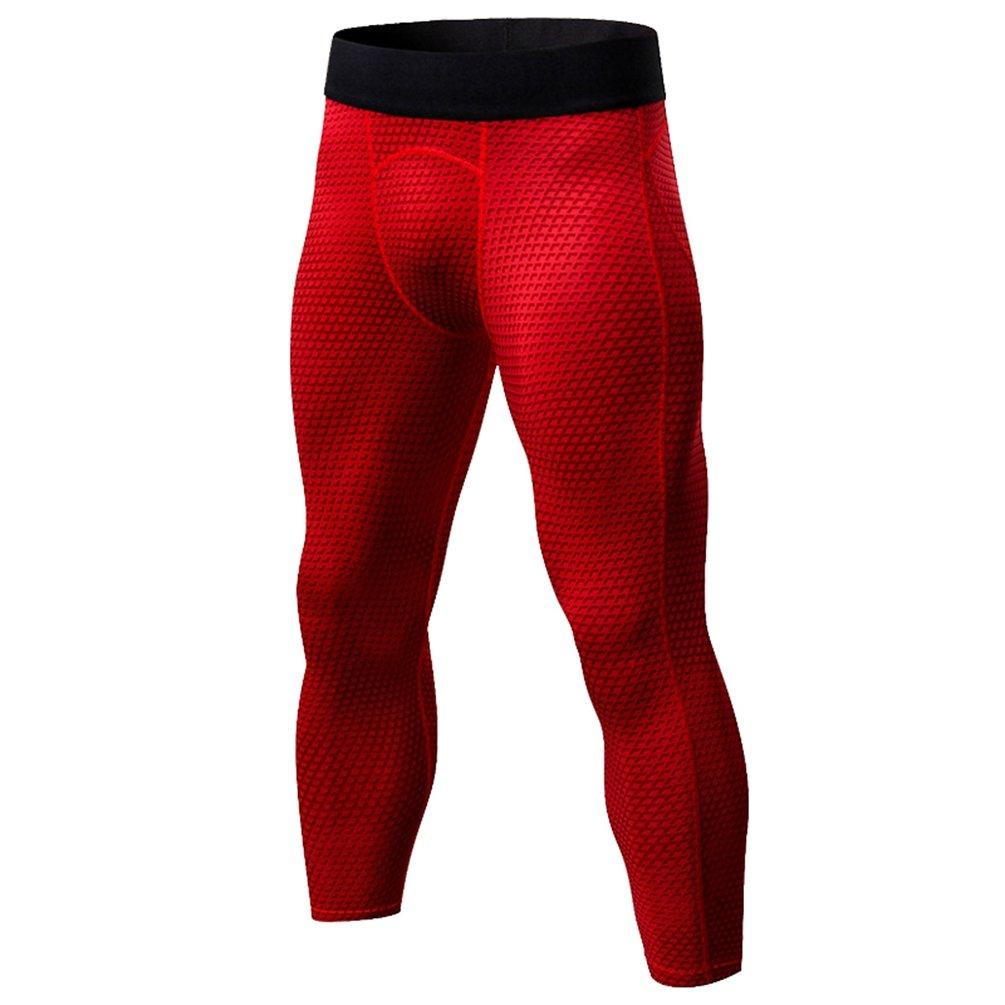 YiiJee Herren Sport Fitness Kompressions Hosen Tights Base Layer Hose Schnelltrocknend Elastizität Hose