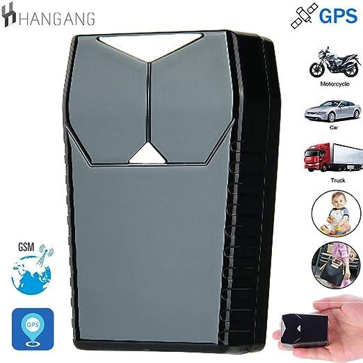 Hangang Gps Tracker, Gps Para Coche Impermeable/Gsm/Gprs, Mini Tracker Magnético Portátil Oculta Para Vehículo Antirrobo y Niños/Mayores/Personal