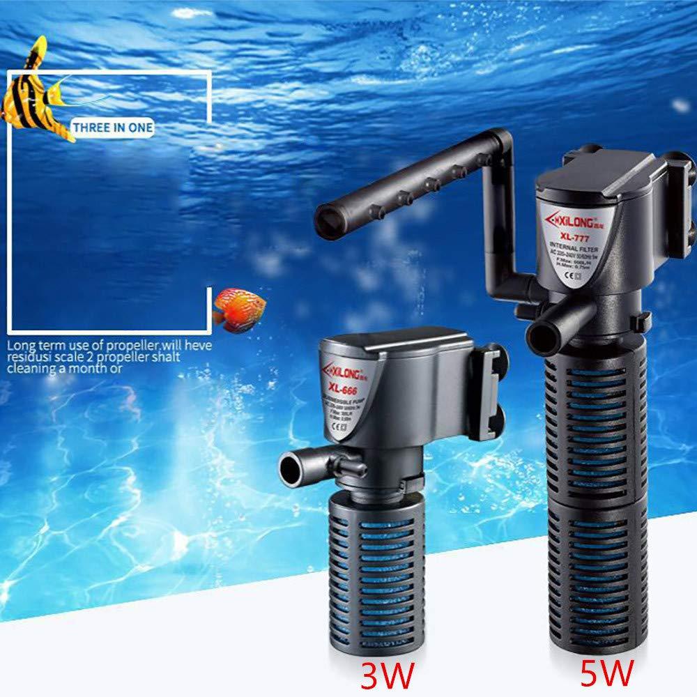 Amazon.com : Dolloress Aquarium⭐3 in 1 Aquarium Internal Filter Sinking Pump Oxygen Submersible Water Pump for Fish Tank Pond : Pet Supplies