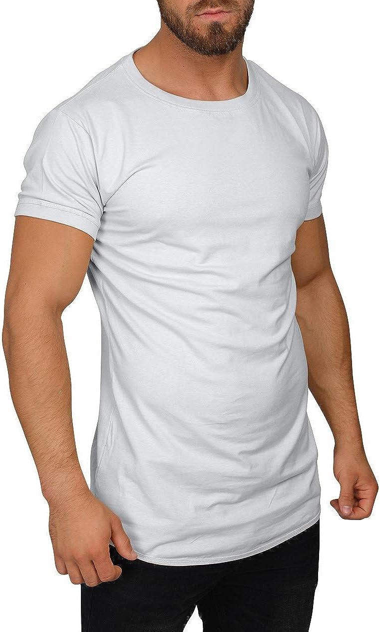 QULAXITY XVI Camisa de Hombre Oversize Cuello Redondo: Amazon.es: Ropa y accesorios