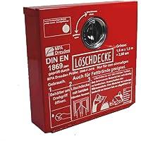 Löschdecken-Behälter Metall 30 x30 x8 cm geeignet für Löschdecken ca. 1,6 m x 1,8m