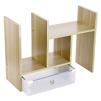 Amazon.com: OwnMy estantería de escritorio de madera con ...