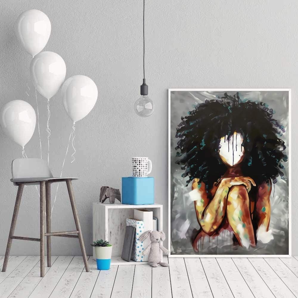 PLjVU Pintura al óleo Abstracta Magic Lady sin Rostro Estampados y Carteles sobre Lienzo Cuadros Modernos de decoración del hogar para el Arte de la Pared del Dormitorio-Sin marco50X75cm