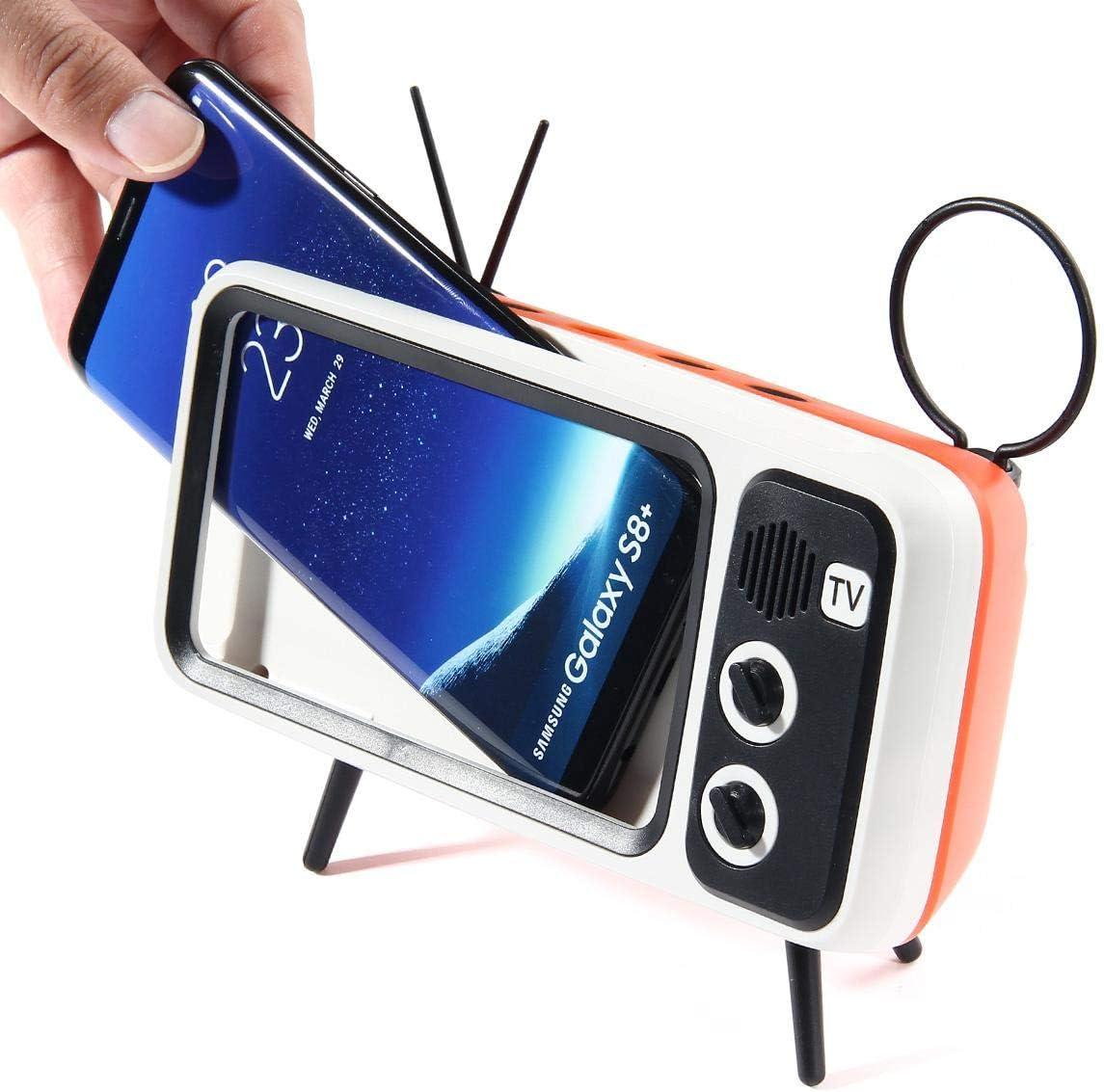 AUX FM BT Optional 3D Stereo Sound Quality Portable Vintage Wireless Loudspeaker MOGOI Retro TV BT Speaker 33ft Wireless Range V4.2 TF Card Slot Blue