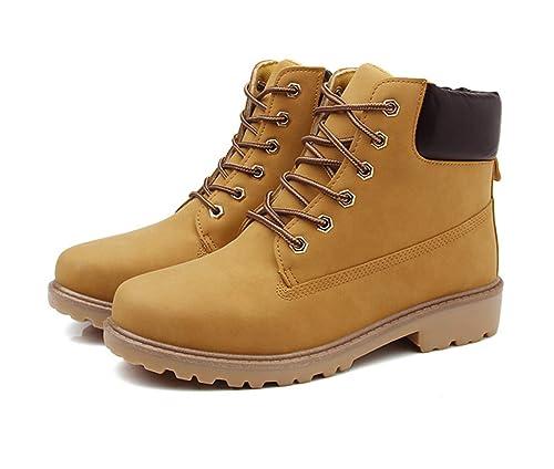 Botas de Piel Hombre Botas de Nieve Botas de Seguridad Invierno Botas Martin Estilo Militar: Amazon.es: Zapatos y complementos