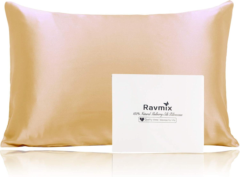 Ravmix 20×26inches 100% Silk Pillowcase $17.33 Coupon