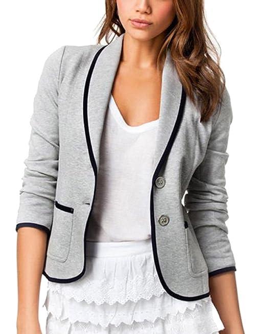 online retailer 5b27c 8ef7f Kasen Donna Elegante Slim Maniche Lunghe Cardigan Outwear ...