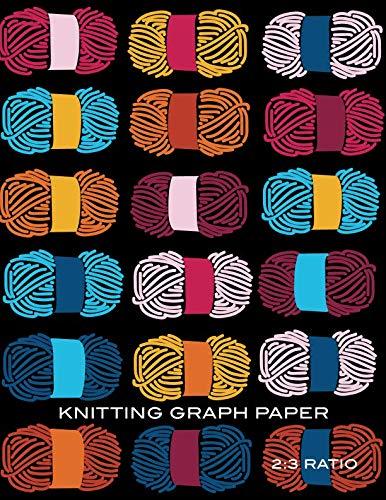 Knitting Graph Paper: Yarn Blank Knitter's Journal, 2:3 Ratio, Design Notebook