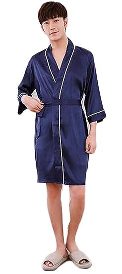 f4d4afc925 Dressing Gown Men Bath Robe Bathrobe Lightweight Loungewear Cozy Homewear  Men s Dressing Special Style Gown Pajama