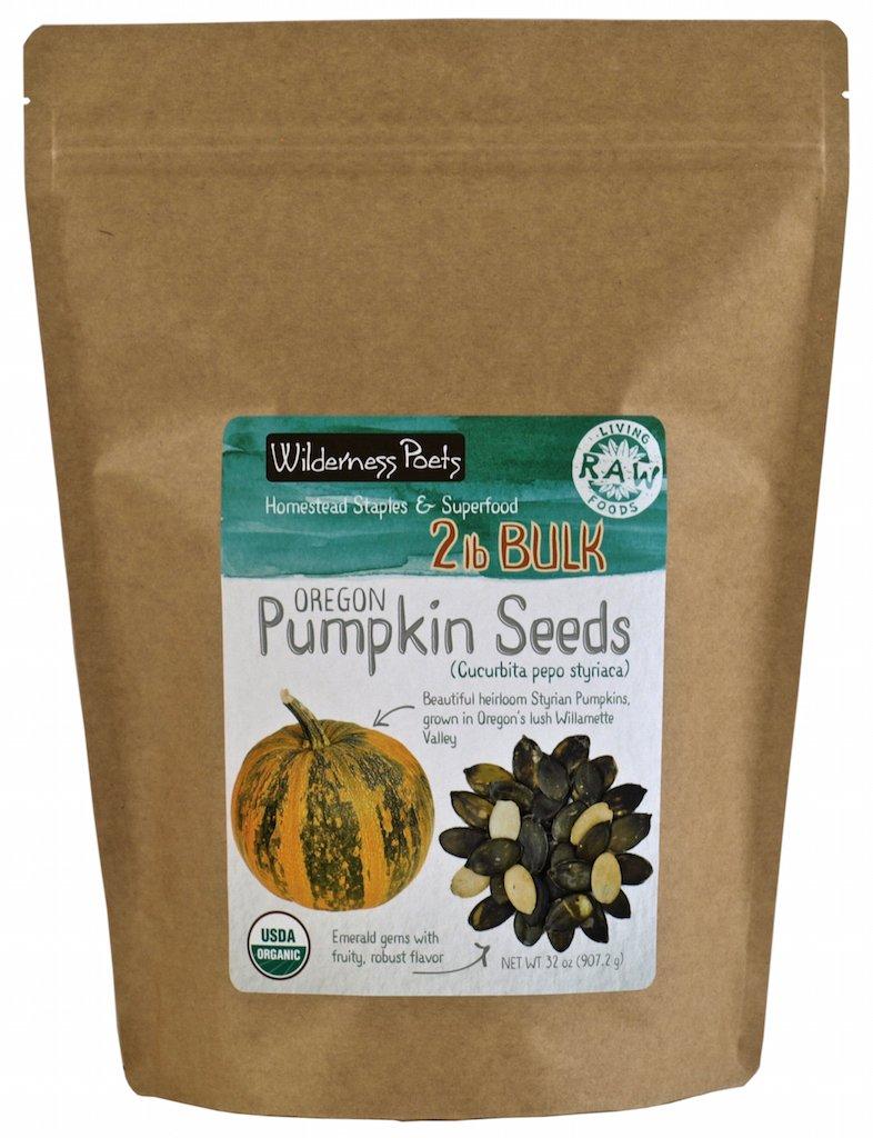 Wilderness Poets Oregon Pumpkin Seeds - Organic, Heirloom, Raw - Bulk Pumpkin Seeds (32 Ounce - 2 Pound) by Wilderness Poets