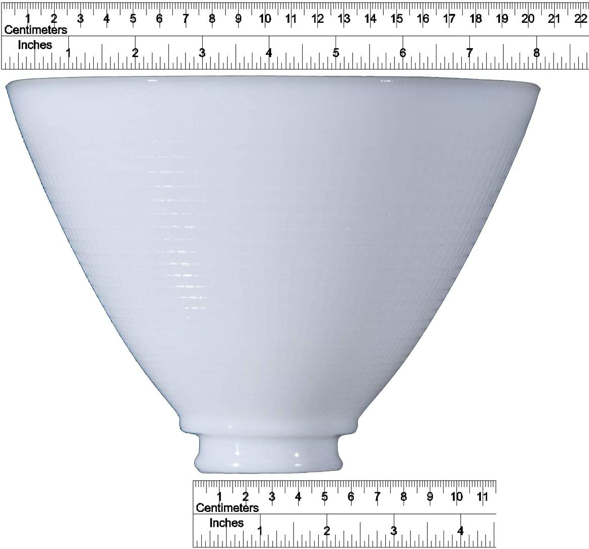 White Opal Glass 8 Inch Reflector Floor Lampshade Replacement