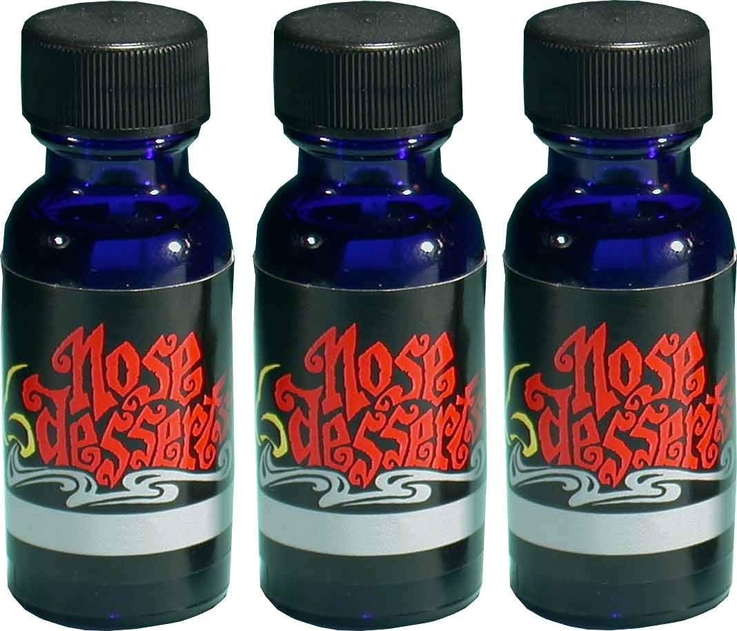 Victorian Rose Scent Aromatherapy Meditation Relaxation Home Fragrance Oils 3 Bottles Set Contains: 1/2 fl-oz / 15ml Each, of High Quality Grade A Premium Fragrance - Body Oil by Nose Desserts Brand