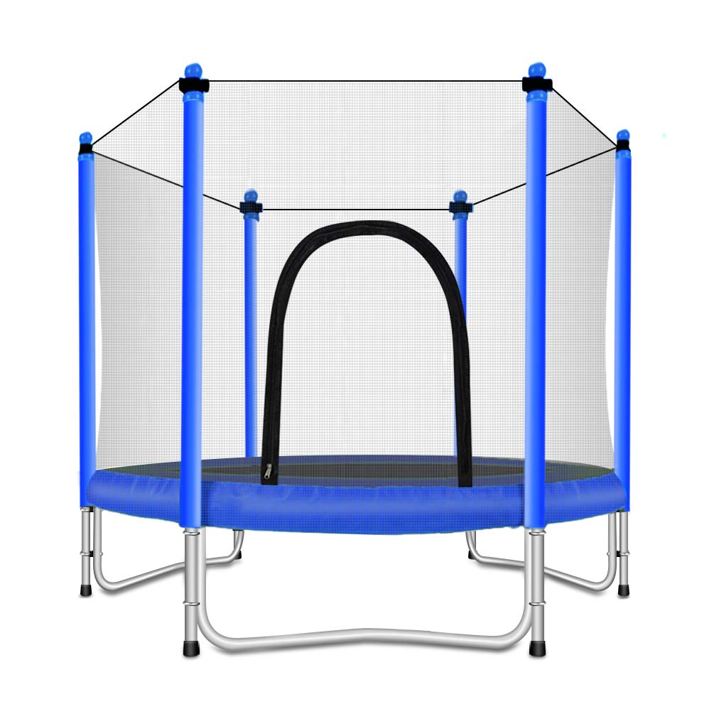 Fashionsport OUTFITTERS Trampoline with Safety Enclosure -Indoor or Outdoor Trampoline for Kids-Blue-5FT by Fashionsport OUTFITTERS
