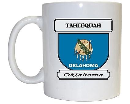Amazon Com Tahlequah Oklahoma Ok City Mug Kitchen Dining