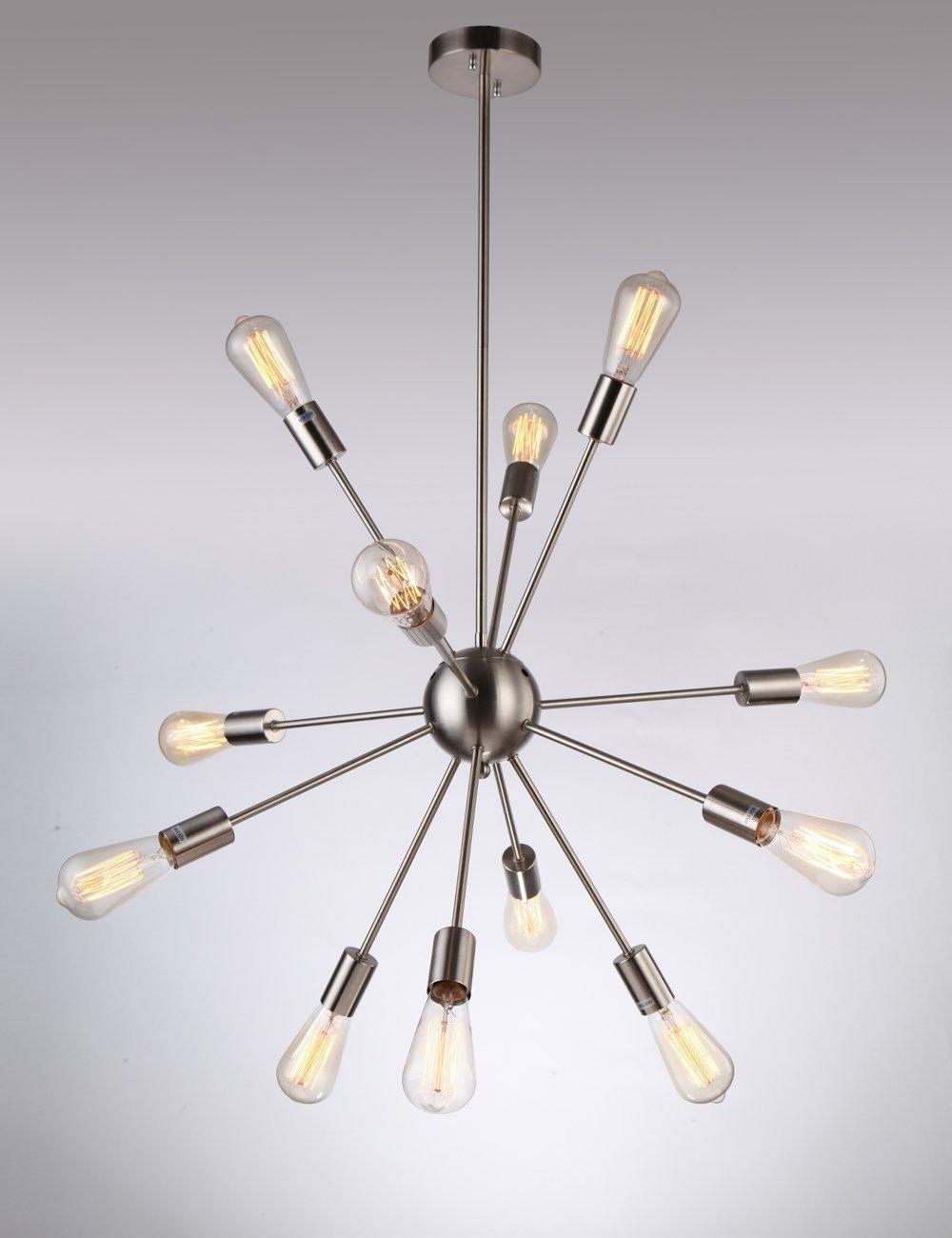 Sputnik Chandelier, Naturous 12 Lights Pendant Lighting, Vintage ...