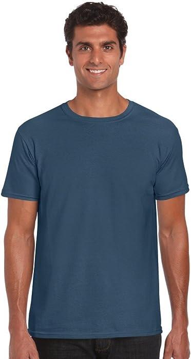 1a251909 Amazon.com: Gildan Softstyle™ Adult Ringspun T-Shirt Indigo Blue S ...