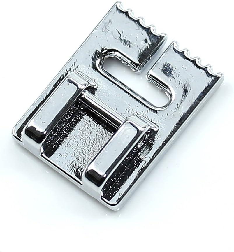 Facibom Maquina de Coser Pliegue de Pin prensatelas de 9 Ranuras para Singer Janome