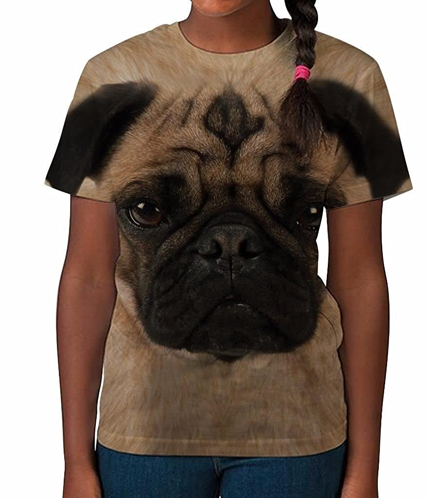 Bang Tidy Clothing Kids Graphic Tee Youth T Shirt Pug Face Clothes for Girls TN139P03
