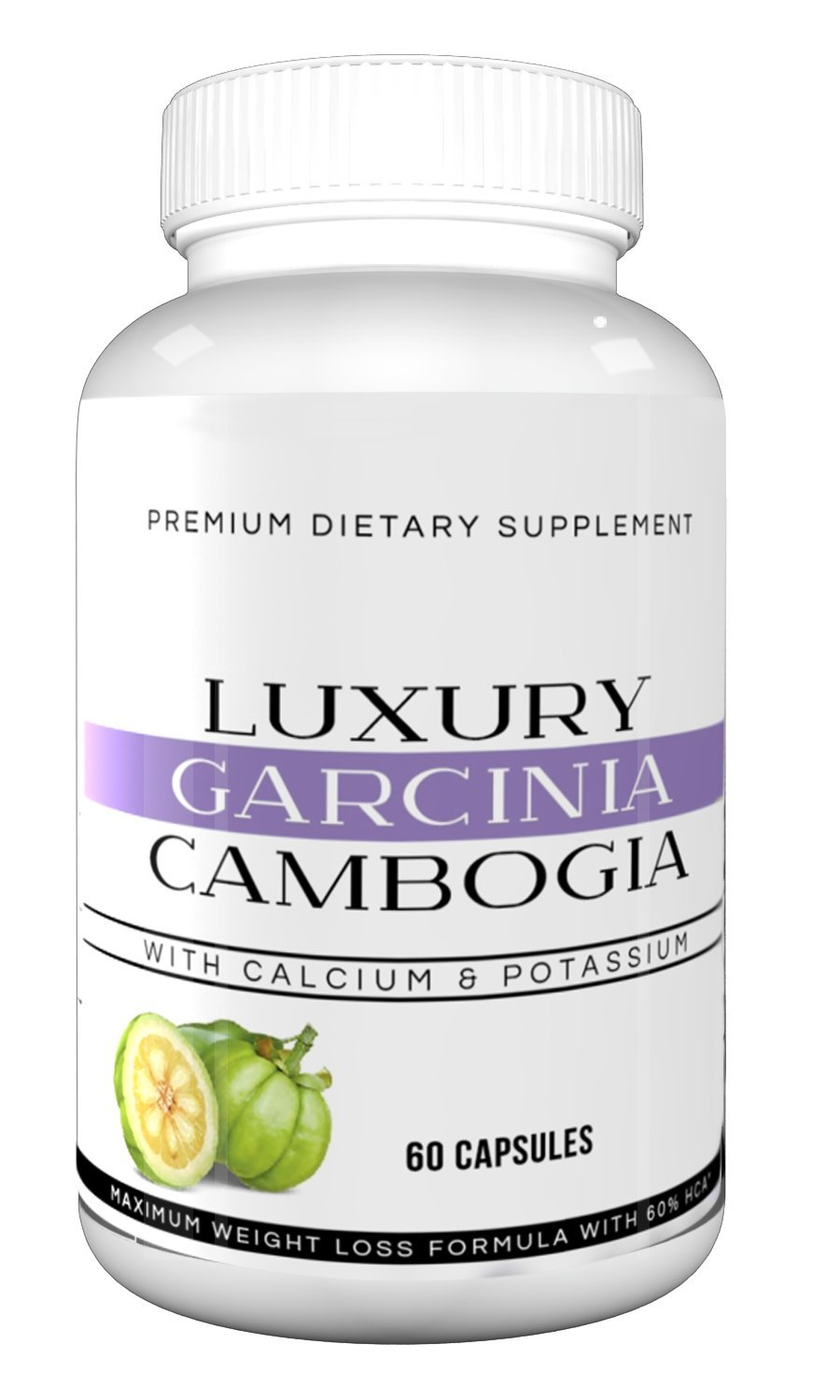 Luxury Garcinia Cambogia - 100% Premium Extra Strength Weight Loss Formula with HCA, All Natural Appetite Suppressant, Fat Blocking and Metabolism Boosting Formula, Non-GMO, Gluten Free, Dairy Free by Ultra Premium Garcinia Cambogia (Image #1)