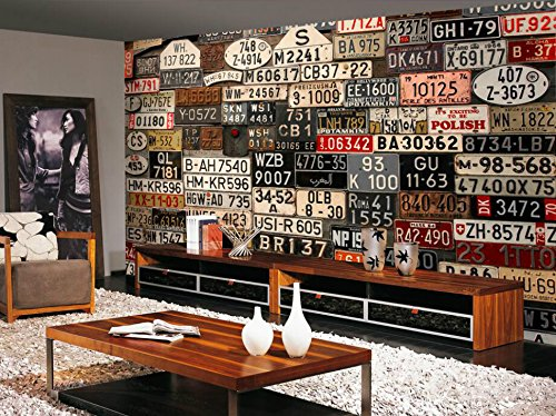 Rebelde Stickers (custom 3d Wall Paper Home Improvement Decorative Wallpaper for walls Retro license plate Wallpapers background wall murals)