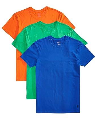 Dusk 3 Neck Men's Crew Lauren Polo Classic Shirts Orange Pk Ralph trsdQh