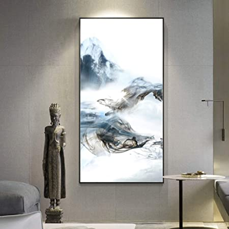 RTCKF China Abstracto Paisaje de montaña Cartel y Lienzo ...