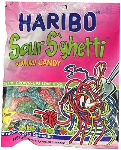 Gummy Candies: Haribo Sour S'ghetti