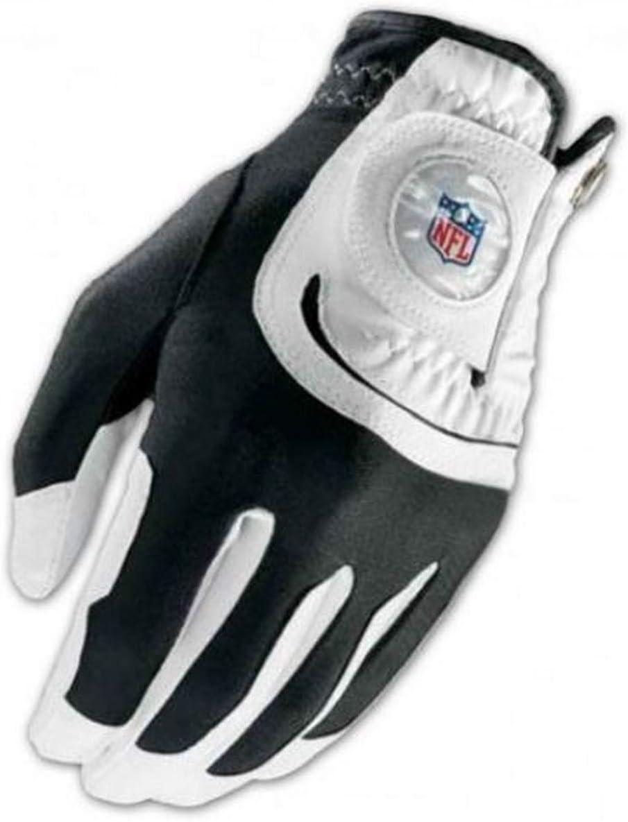 Wilson Staff NFL Fit All Men's Left Hand Golf Glove, One Size, White