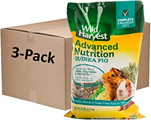 Wild Harvest Advanced Nutrition Guinea Pig 8 Pounds, Complete and Balanced Diet, Pack of 3 (G19708)