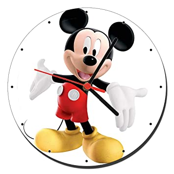 MasTazas Mickey Mouse Disney Reloj de Pared Wall Clock 20cm: Amazon.es: Hogar