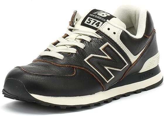 Adaptabilidad Los invitados Planificado  Amazon.com: New Balance Zapatillas para hombre negro/blanco 574: Shoes