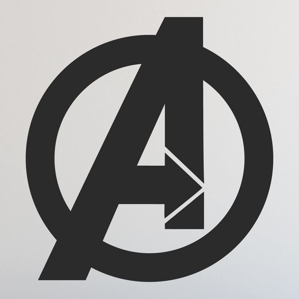 CustomVinylDecor Avengers Logo | Home Decor Vinyl Sticker for Bedroom, Playroom, Or Laptop | Small and Large Sizes | Black, Red, Blue, Brown, Green, Gold