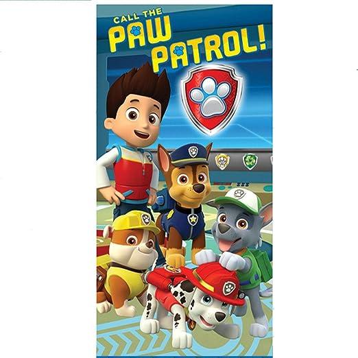 Toalla Patrulla Canina Paw Patrol Team microfibra: Amazon.es ...