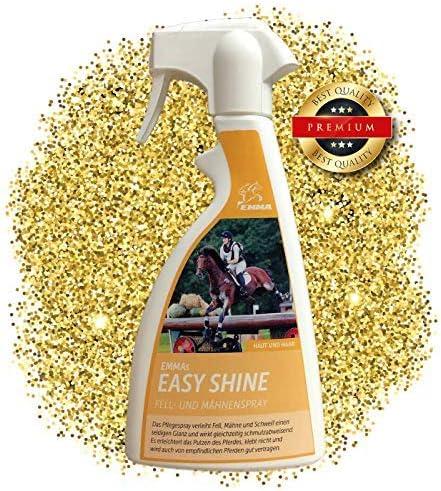 EMMA ♥ Spray abrillantor de Crin y de Pelo, Cuidado del Caballo Cuidado del Pelo Cuidado del Spray y Brillo del Pelo, Accesorios para Caballos 500 ml