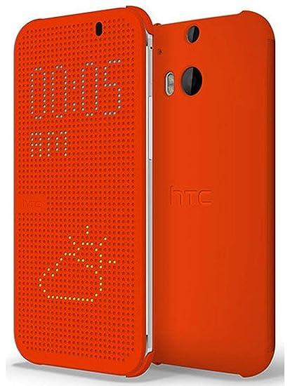 Amazon.com: HTC Dot View Carcasa para HTC One (M8 ...