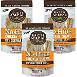 Earth Animal No-Hide Chk Chw 4 Inches - 6 Total(3 Packs with 2 per Pack)
