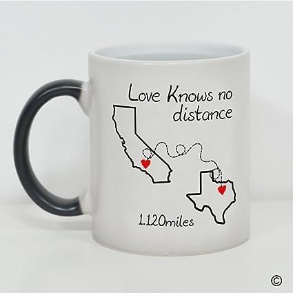 Amazoncom Msmr Heat Changing Mug Love Knows No Distance California