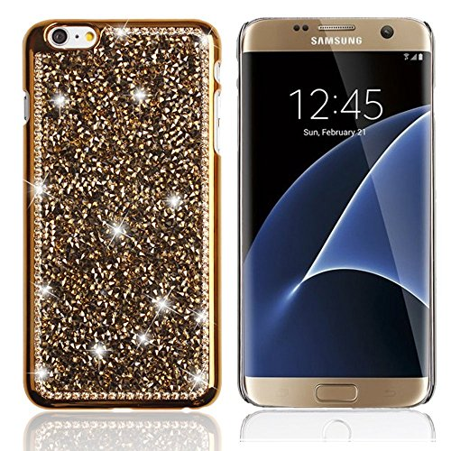 S6 5.1 Case, Bling Crystal Crown Rhinestone Flower Pearl Diamond Design Sparkle Glitter Handmade Hard Plastic smart Case Cover for Samsung Galaxy S6,…
