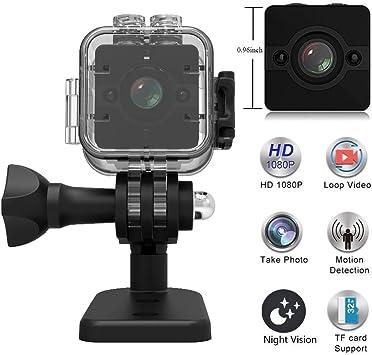 Amazon.com: Cámara espía vídeo videocámara deportiva Mini ...