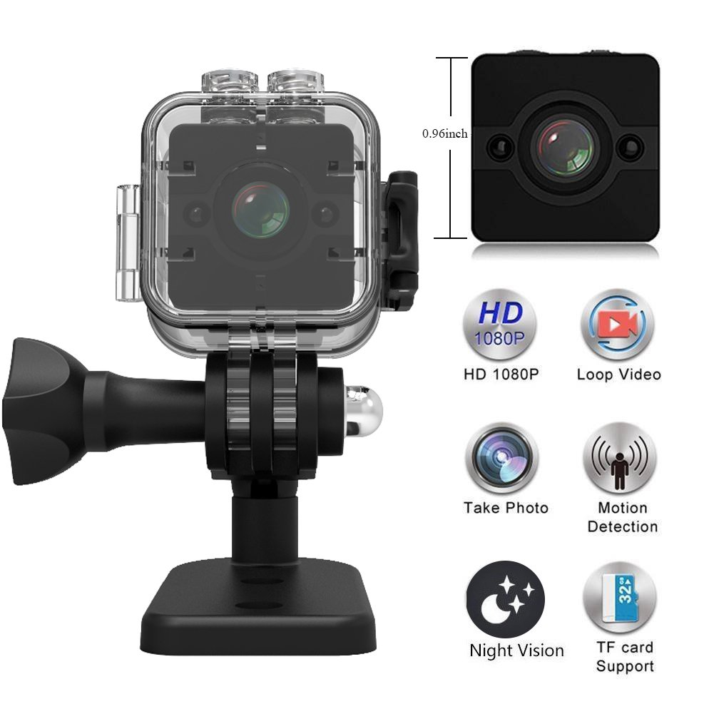 MINGYY Spy Camera Sport Video Camcorder Mini USB DVR Cam 1080P HD Night Vision Hidden Camera 155-degree Wide Angle Lens Surveillance Camera with Waterproof Case Camera Motion Detection for Home Car