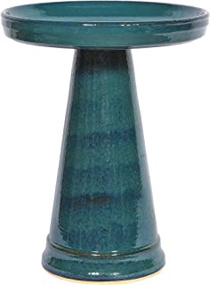 product image for Birds Choice BCSE-Turq Burley Clay Simple Elegance Bird Bath, Medium, Turquoise